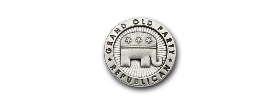 Republican Party Medallion (pewter)