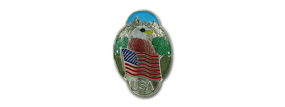 USA Medallion with Eagle (embossed)